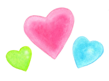 3 color Heart