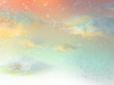 배어 수채화 풍의 하늘