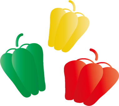 Green peppers & paprika