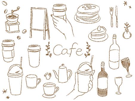 カフェ おしゃれ チョーク 素材セット4