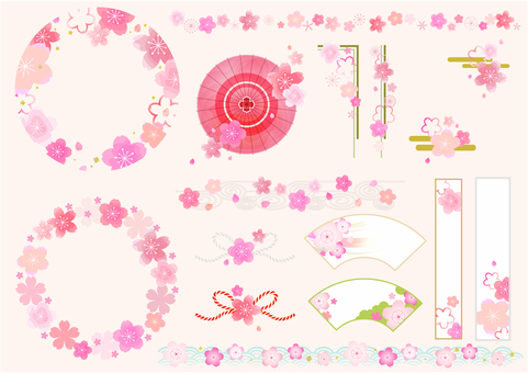 Cherry blossoms various 01