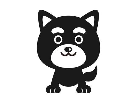 Shiba Inu monochrome