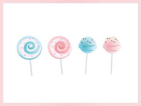 Pelican Candy Vector Illustration Set
