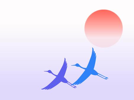 New year's cardholder crane