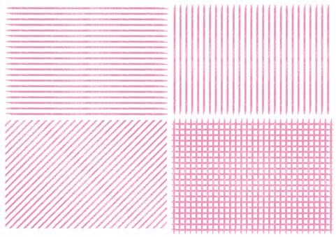 Crayon style style handwritten stripe check pattern
