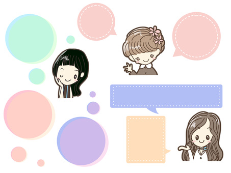 Girl and speech bubble A
