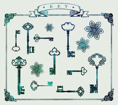 열쇠 키 꽃 바구니 02