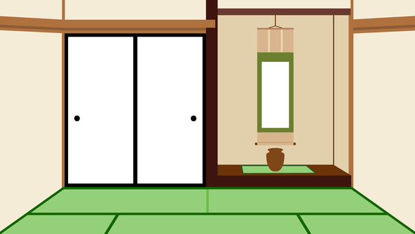 Simple Japanese style room Furewomen's background wide 16: 9