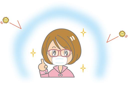 Female 08 - mask - glasses
