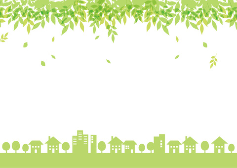 Cityscape frame New green _ Spring