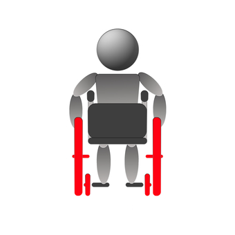 Rear seat seat of wheelchair basic
