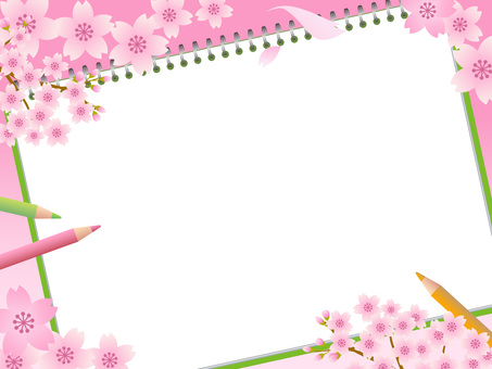 70316. Cherry Blossoms and Sketchbook 2