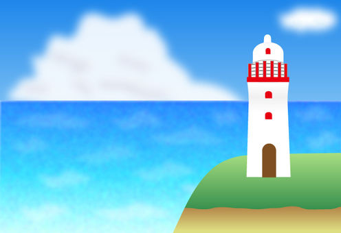Sea and lighthouse