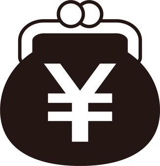 Gamaguchi _ yen mark _ black