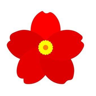 花卉圖案紅色