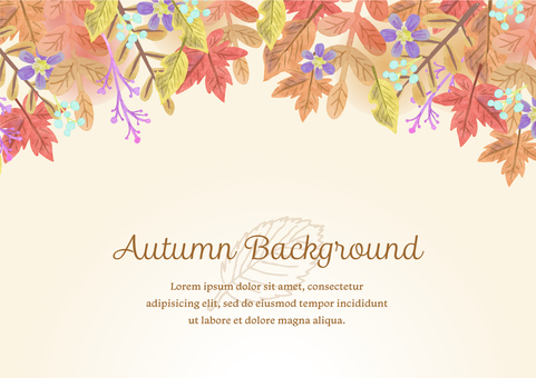 Seasonal material 089 autumn leaf frame