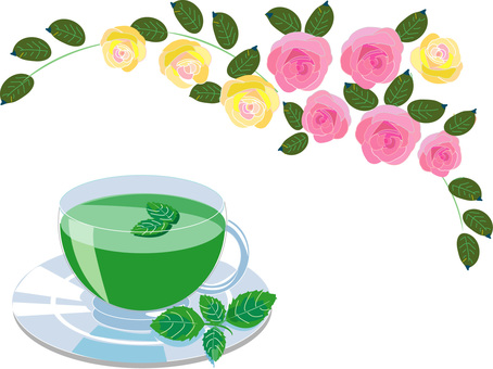 Mint tea and roses