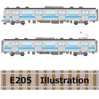 E 205 series train Sagami line