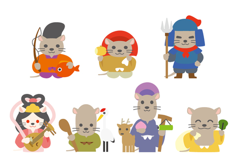Cute Shichifukujin mouse version