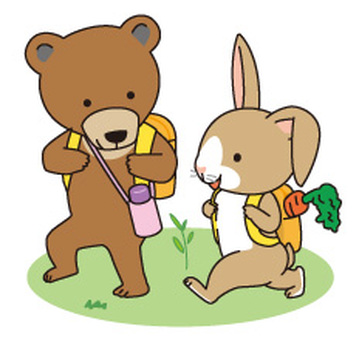 Bear and rabbit excursion