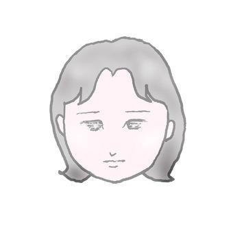 얼굴 슬픈