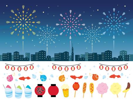 Summer festival illustration collection (2)