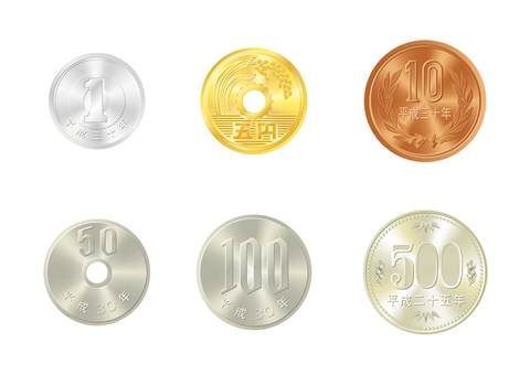 Real touch money [yen coin set (table)]