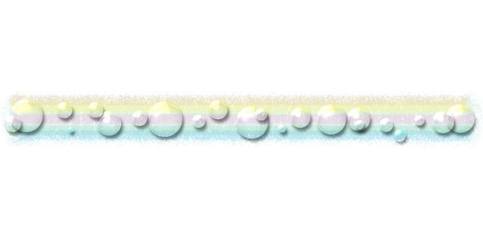 Soap bubble line