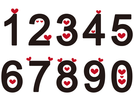 Numbers (with heart)