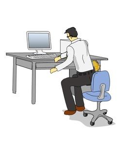 Back pain in desk work
