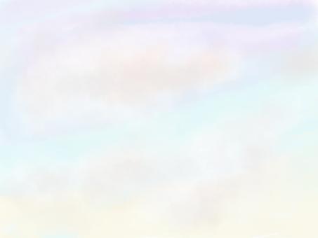 Sunrise pink clouds