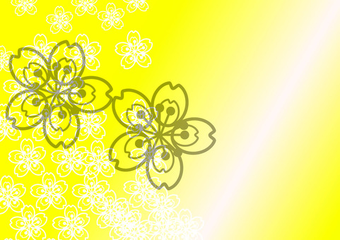 桜 background yellow
