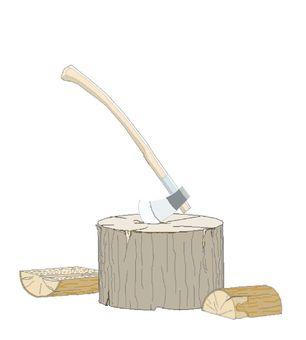 Splitting of wood