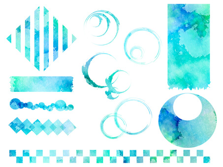 Water color background set ver 03