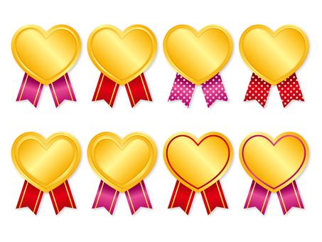 Heart's medal set