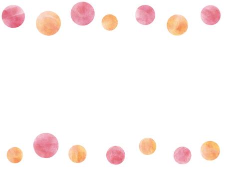 Watercolor frame polka dot
