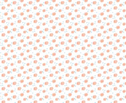 パターン ドットオレンジ