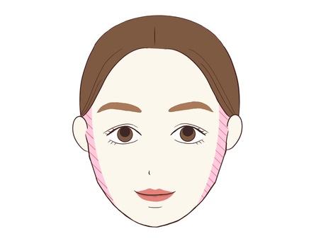 Round face shading