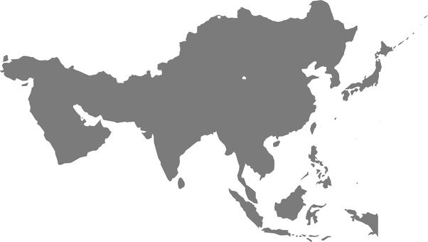 Regional map of Asia