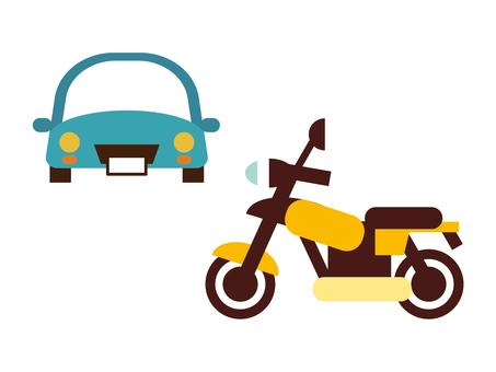 車とバイクのアイコン