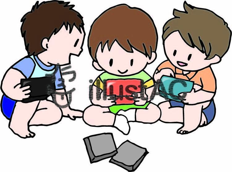 ゲームをする男の子たちイラスト No 833489無料イラストなら