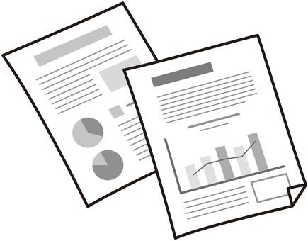 Business documents (monochrome)