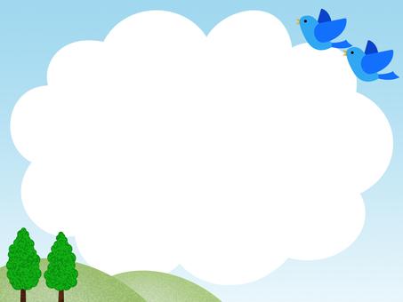 Large cloud frame