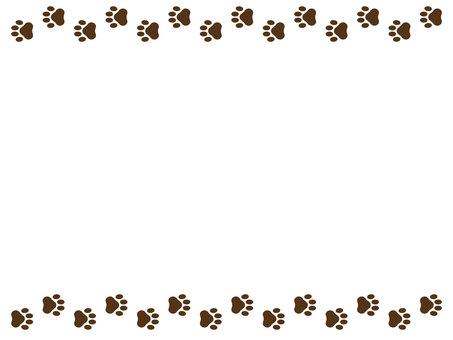 Dog footprint frame dark brown