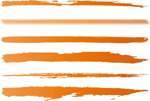 Orange gradation line