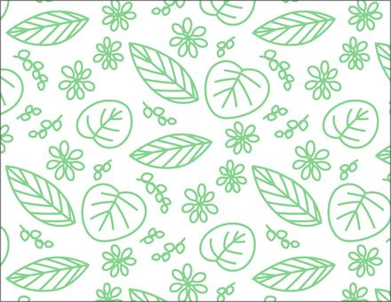 叶子图案_绿线
