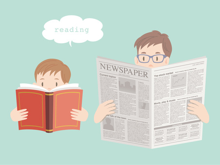 Read a book _ read a newspaper