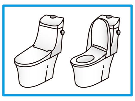 Toilet Integrated type toilet Integrated type toilet Hand wash