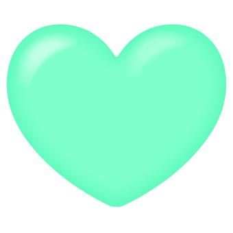 Plump heart (mint blue)
