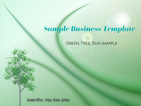 Business template refreshing green